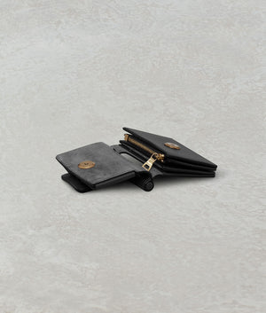 ROMEO WALLET WITH STRAP BLACK