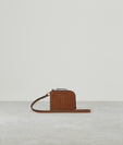 PERFORATED BUCKLE CARD HOLDER COGNAC