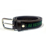GolfBasic Genuine Leather Belt for Men (Black)