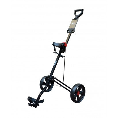 GolfBasic Vintage Aluminium Trolley (Black)