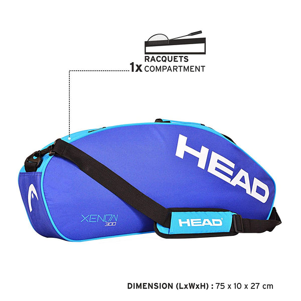 Head 300 Single Compartment Badminton Kit Bag (Blue)