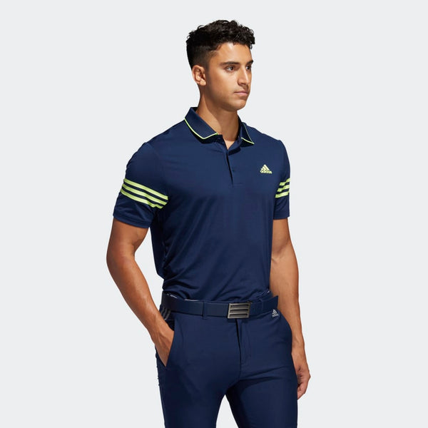 Adidas Ultimate365 Blocked Polo Tshirt (Navy/Solar Yellow)