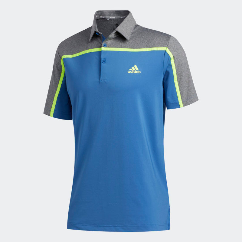 Adidas Ultimate365 Color Block Polo Tshirt (Blue/Grey)