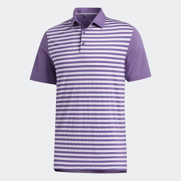 Adidas Ultimate365 Stripe Polo Tshirt (Tech Purple/Purple Tint)