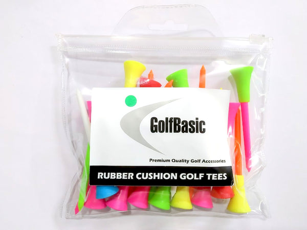 GolfBasic Rubber Cushion Golf Tees (Pack of 24 pcs)