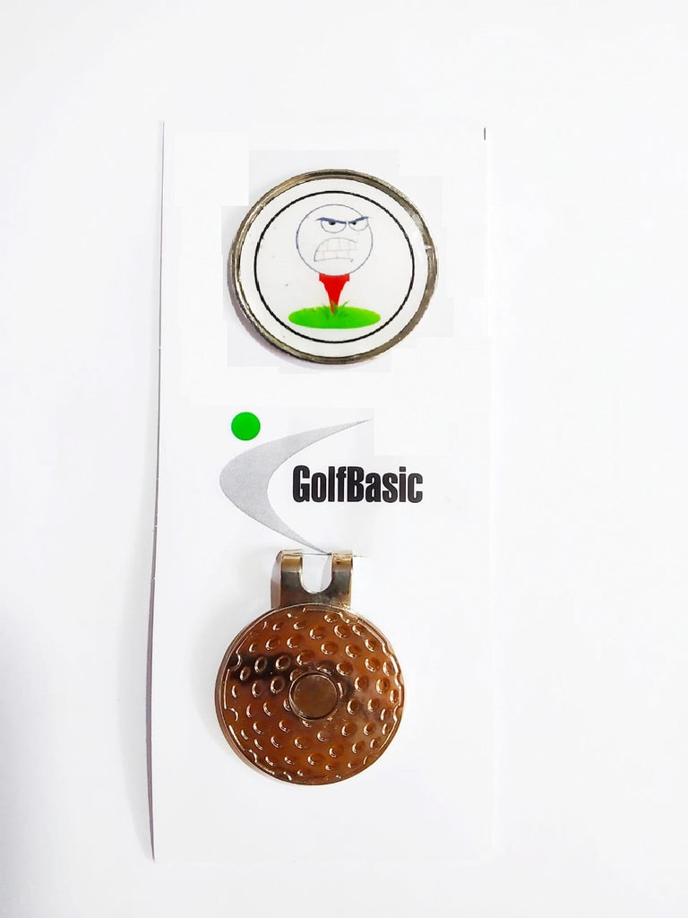 GolfBasic Angry Ball Magnetic Marker & Hat Clip