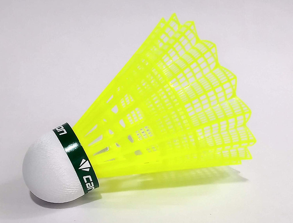 Carlton FC1 Yellow Badminton Shuttlecocks (Green Cap)