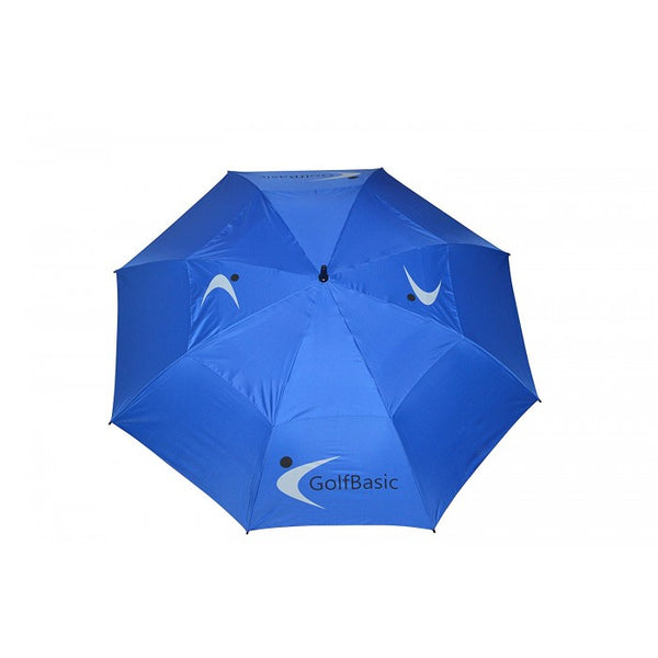GolfBasic Full EP Coated Automatic Open Double Canopy Golf Umbrella (Blue)