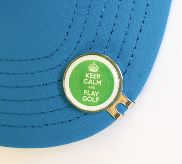 GolfBasic Keep Calm Golf Ball Marker & Hat Clip