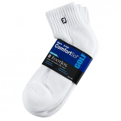 FootJoy ComfortSof Socks (White, Pack of 3)