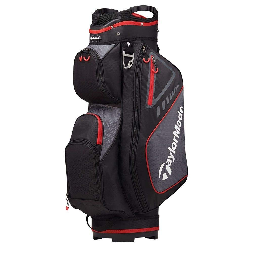 TaylorMade Select Plus Golf Cart Bag, Black/Red