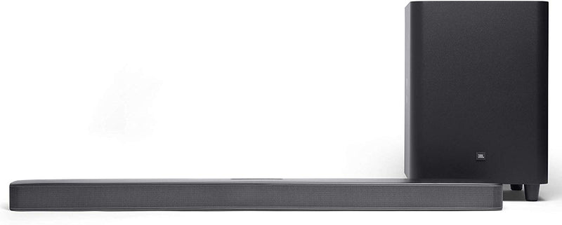 "JBL JBLBAR51IMBLKUK JBL Bar 5.1 Surround - 5.1 Channel soundbar with built-in Wi-Fi and 10"" wireless subwoofer"
