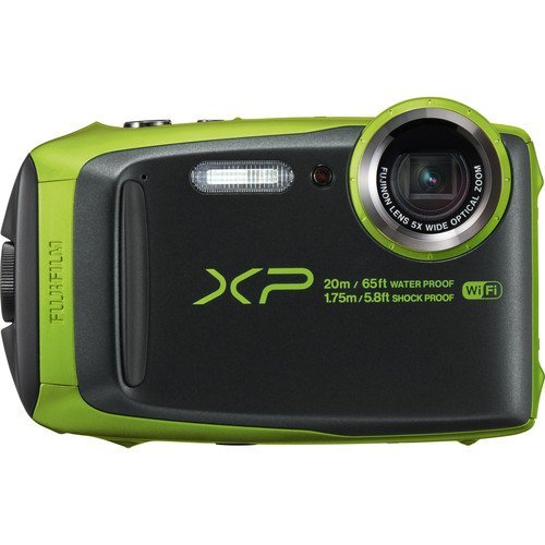 "Fujifilm Waterproof Digital Underwater Camera with 3"" LCD, Green (xp120)"