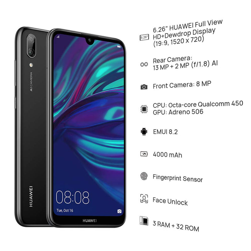 HUAWEI Y7 Prime 2019 32 GB 6.26 inch FullView HD