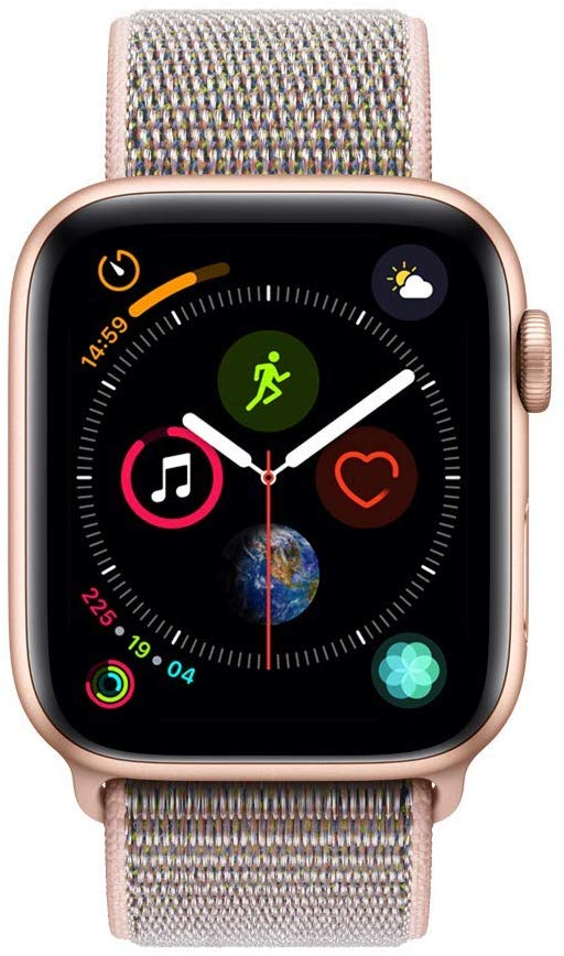 Apple Watch Series 4-40mm Gold Aluminum Case with Pink Sand Sport Loop, GPS, watchOS 5