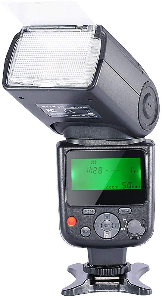 Neewer NW-670 TTL Flash Speedlite with LCD Display for Canon 7