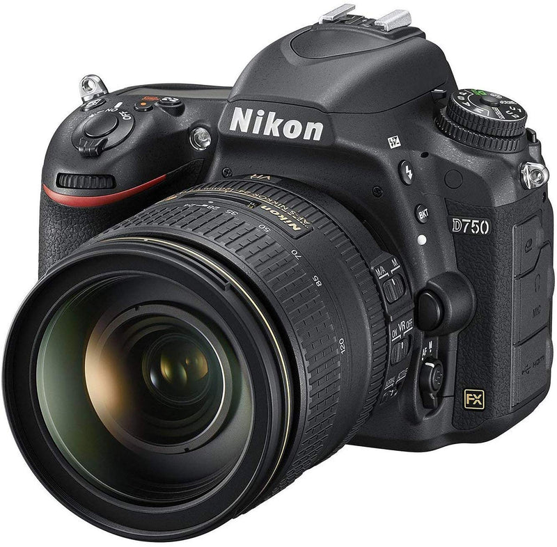 Nikon FX-format D750 - 24.3 MP, SLR Camera 24-120mm Lens, Black