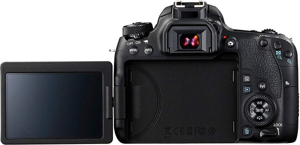 Canon EOS 77D EF-S 18-55mm F4-5.6 IS STM lens , 24.2 MP DSLR Camera, Black