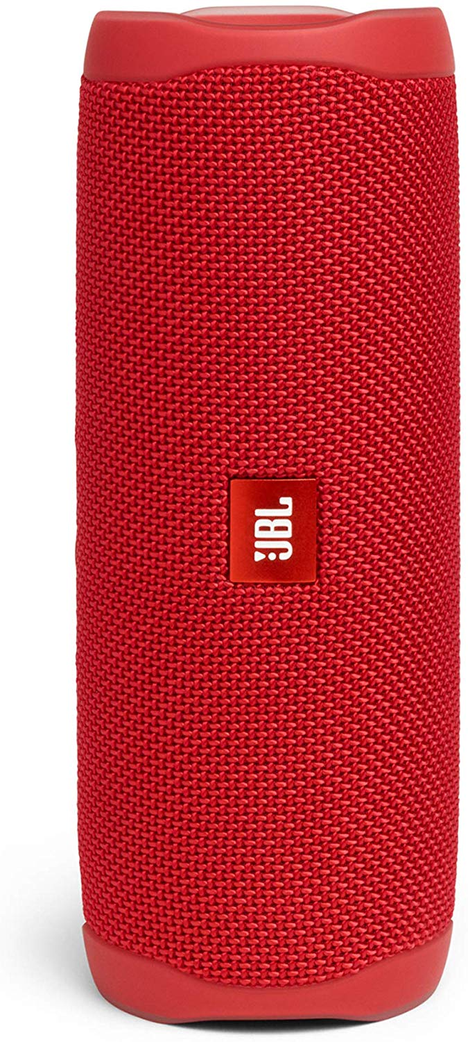 JBL Flip 5 Portable Waterproof Bluetooth Speaker with Hybrid Carrying Case (Red)