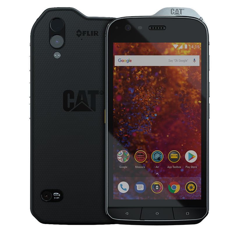 CAT PHONES S61 Rugged Waterproof Smartphone with integrated FLIR camera