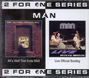 Album Cover of Man - All's Well That Ends Well & Live Official Bootleg