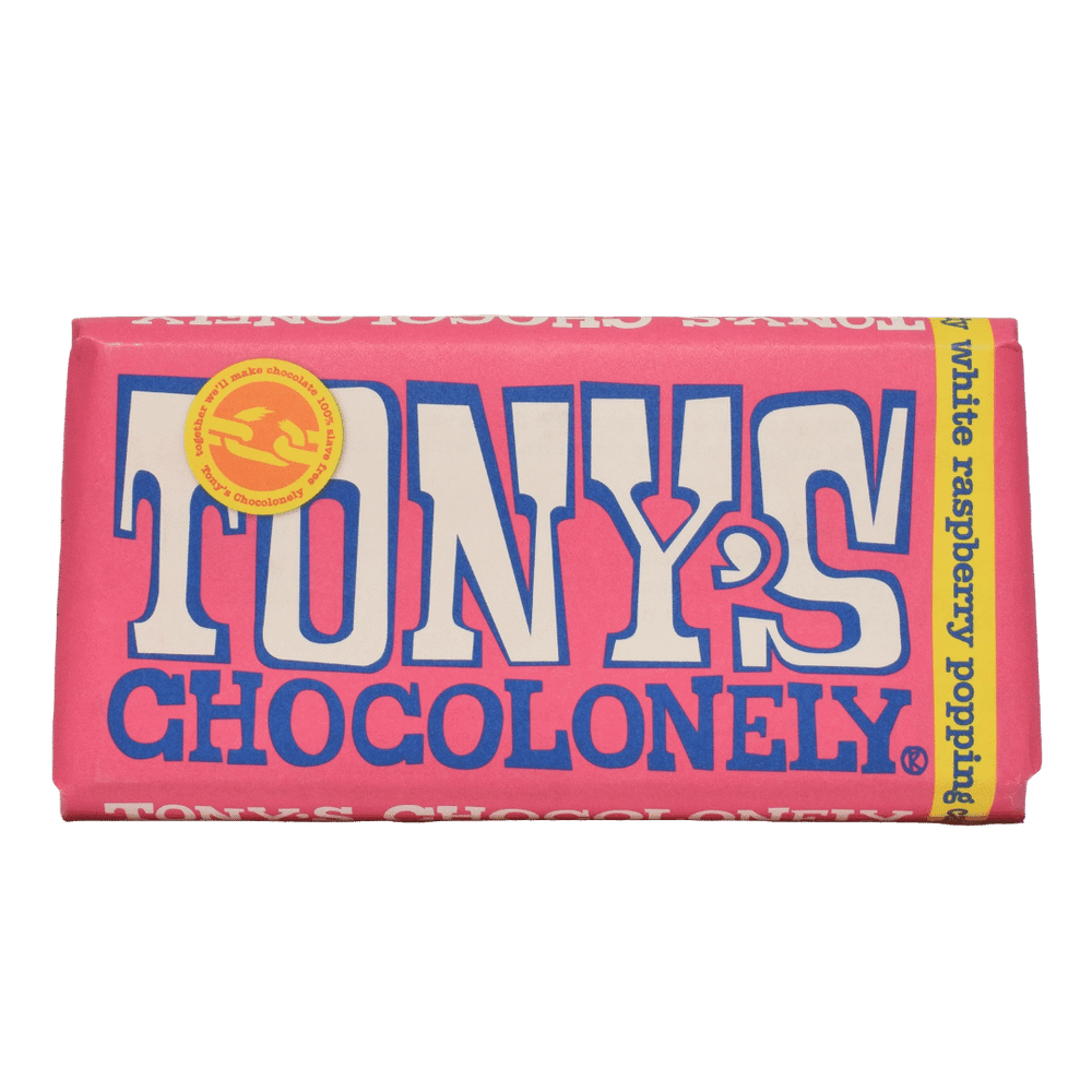 Tony's Chocolonely White Raspberry Popping Candy