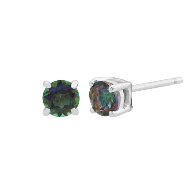 Classic Round Mystic Topaz Stud Earrings Image 1