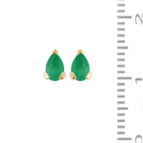 Classic Emerald Stud Earrings Image 3