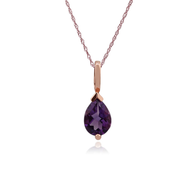 Classic Pear Amethyst Pendant Image 1
