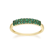 Emerald Pave Ring Image 1