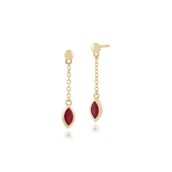 Classic Ruby Drop Earrings & Necklace Set Image 2