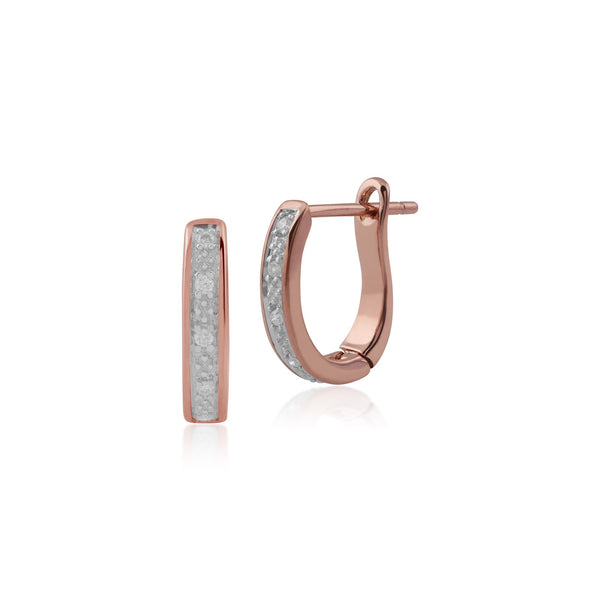 Gemondo 9ct Rose Gold Diamond Hoop Earrings Image