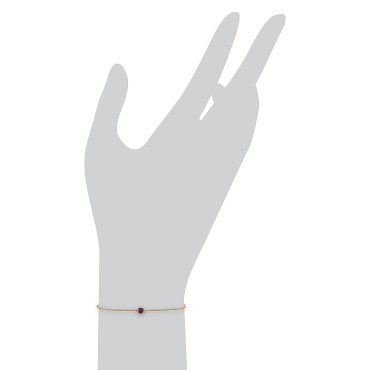Classic Ruby Checkerboard Bracelet Image 3