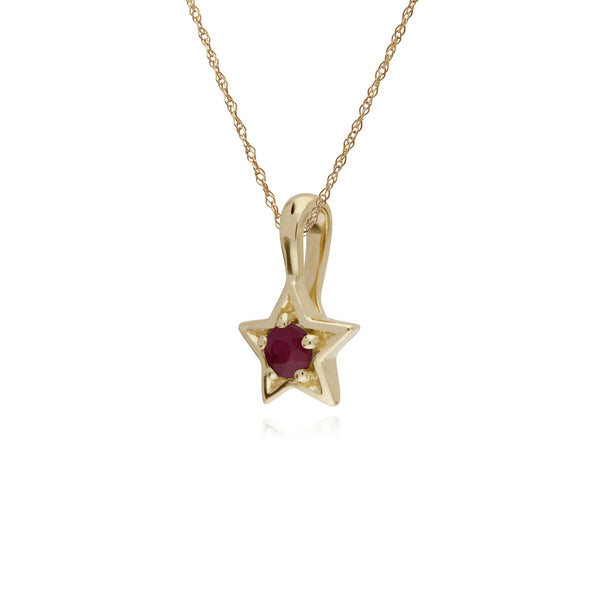 Classic Ruby Star Pendant Image 2