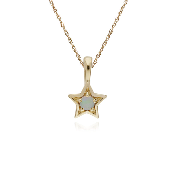Classic Opal Star Pendant Image 1