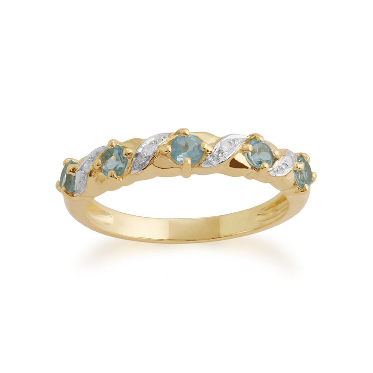 Topaz and Diamond Eternity Ring Image 1