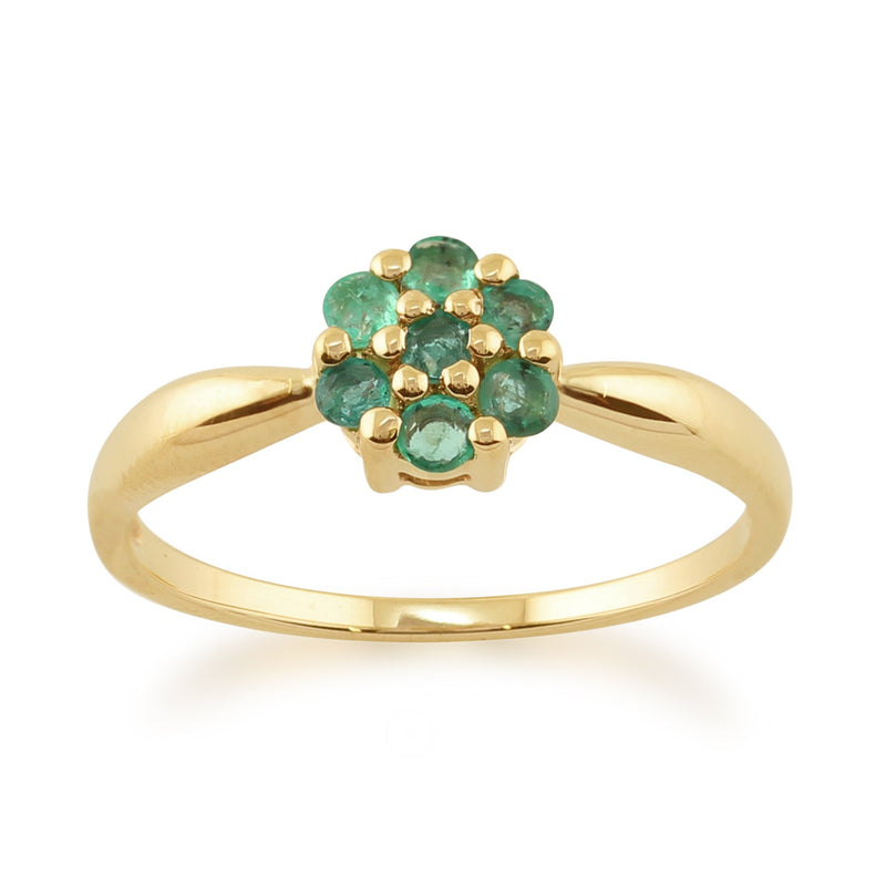 Emerald Flower Ring Image 1