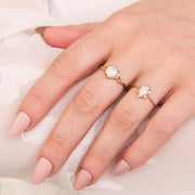 Opal Heart Ring Image 3