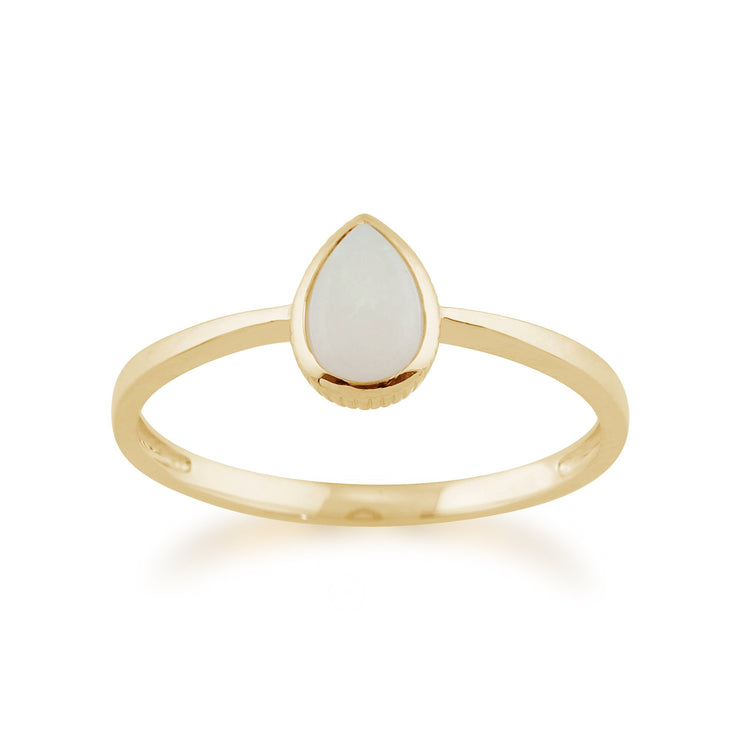 Pear Shaped Opal Ring Image 1