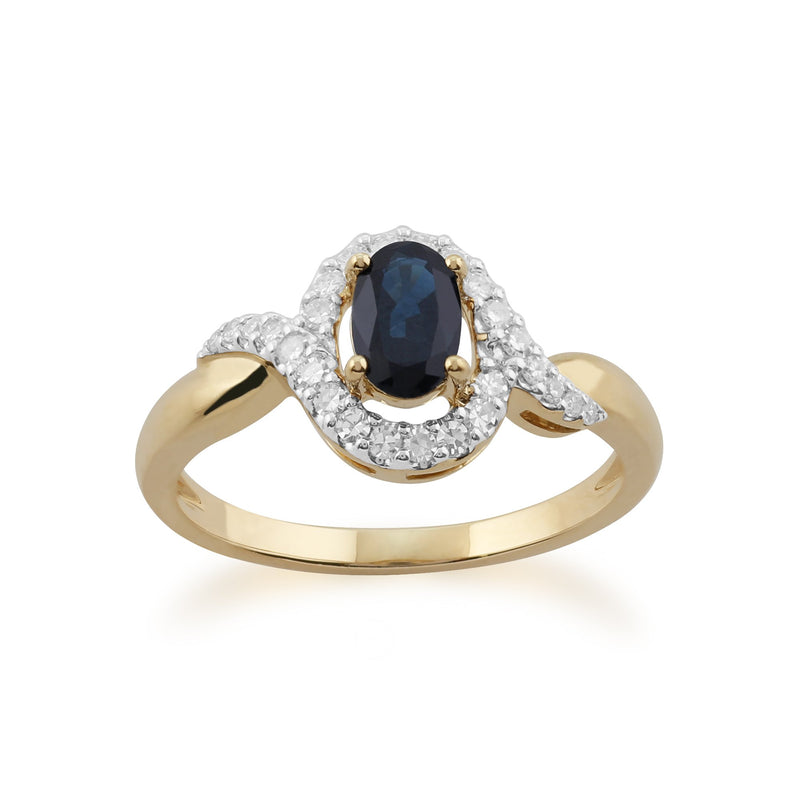 Sapphire and Diamond Classic Ring Image 1