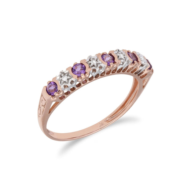 Amethyst and Diamond Eternity Ring image 2
