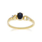 Sapphire and Diamond Dress Ring Image 1