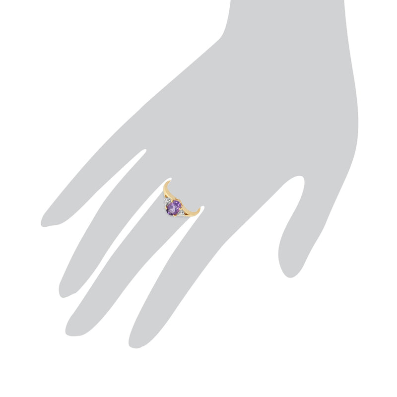 Amethyst and Diamond Ring Image 3