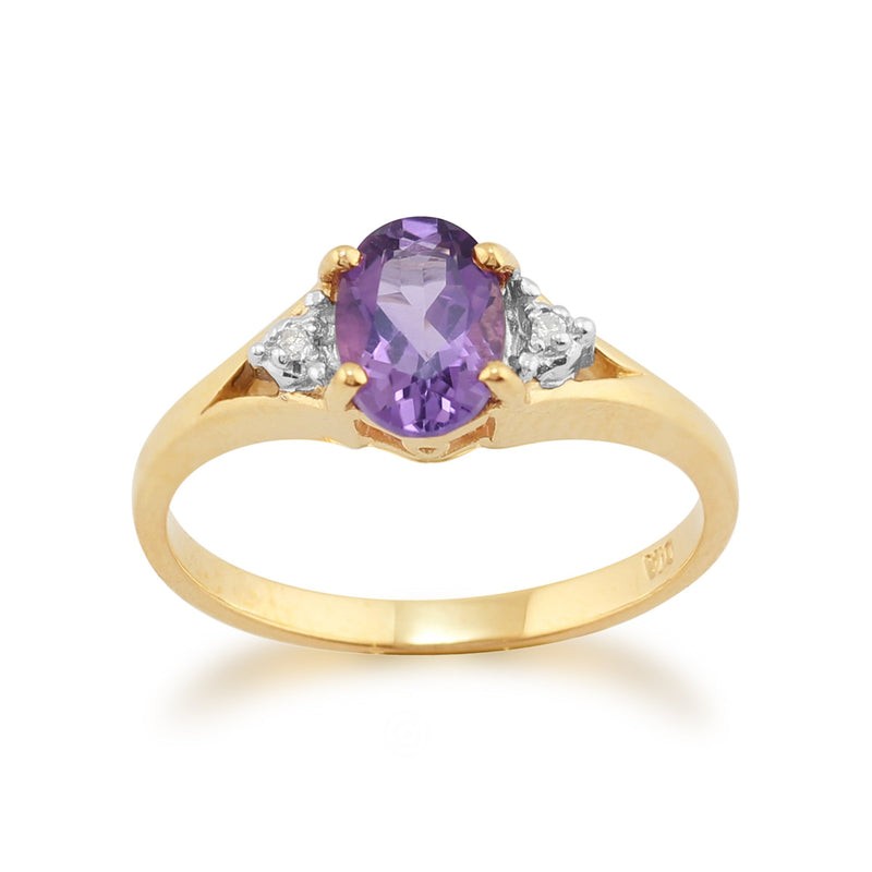 Amethyst and Diamond Ring Image 1