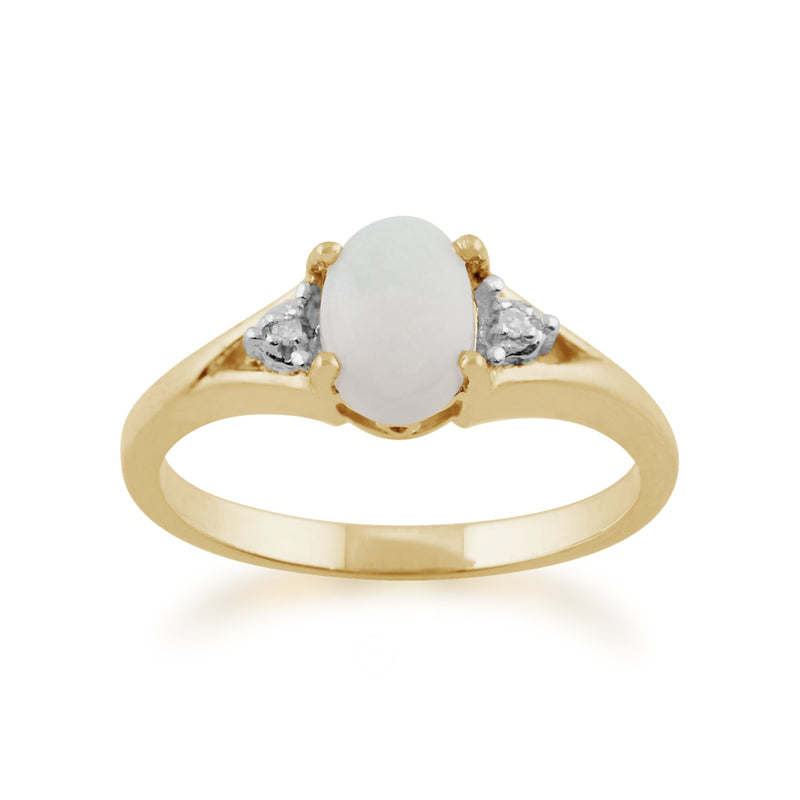 Opal and Diamond Ring Image 1