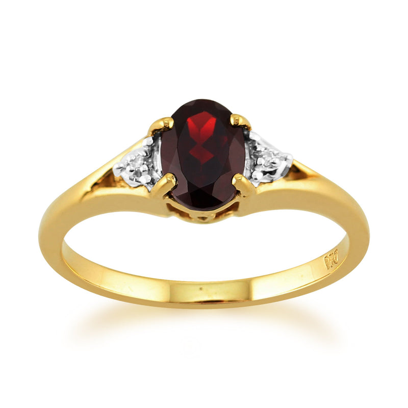 Garnet and Diamond Ring Image 1