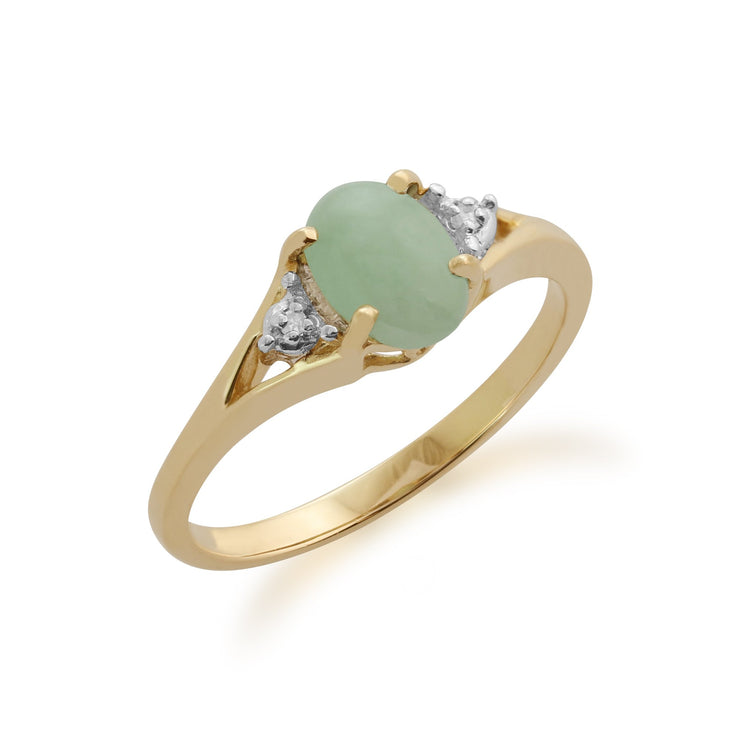 Jade and Diamond Ring Image 1