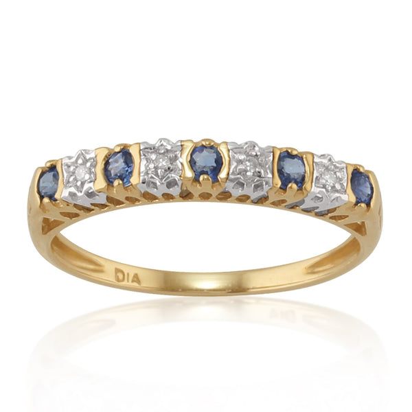 Sapphire and Diamond Eternity Ring Image 1