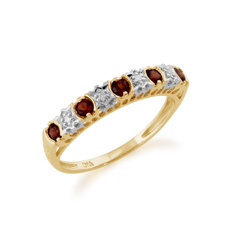 Garnet and Diamond Eternity Ring Image 2