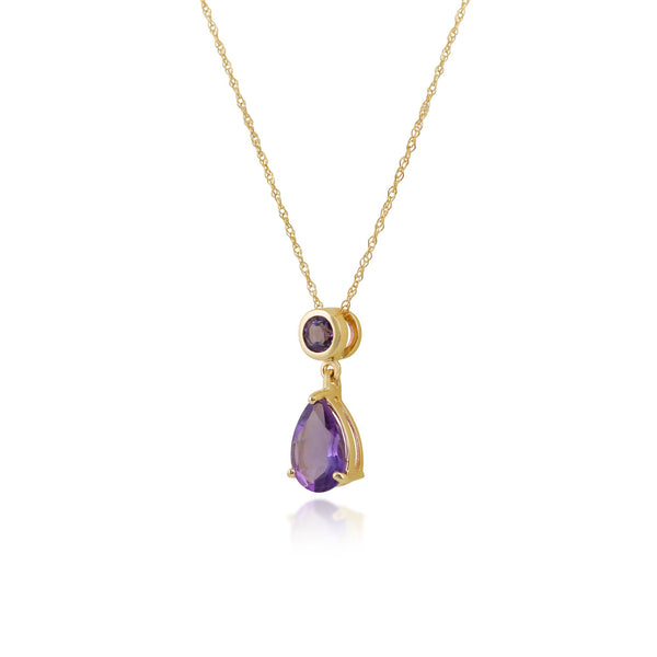 Classic Amethyst Pendant on Chain Image 2